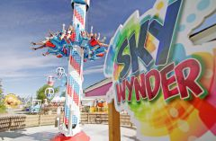 Sky Wynder sign and ride at Calaway Park