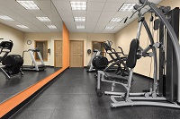 Fitness center with weight machine