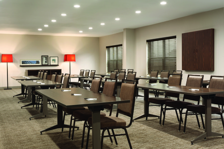 Classroom arrangement in hotel meeting room