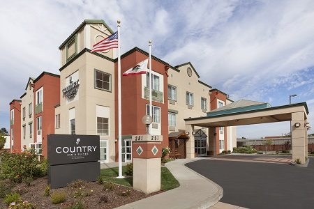 Exterior of the Country Inn & Suites, San Carlos, CA