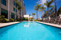 Outdoor pool at San Diego hotel
