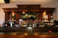 Well-stocked bar at High Timber Lounge