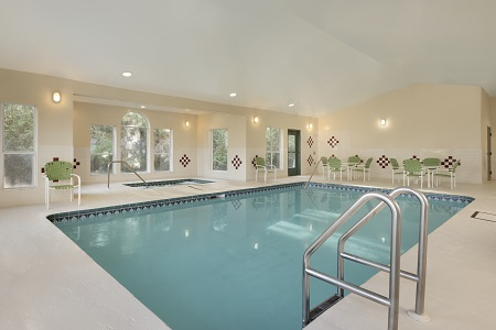 Indoor pool at Lake City hotel