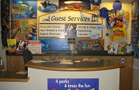 Guest services desk at Orlando hotel near Disney World