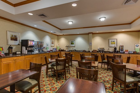 Pensacola hotel's breakfast area