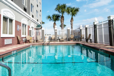Sparkling Outdoor Pool At Our Pinellas Park Hotel
