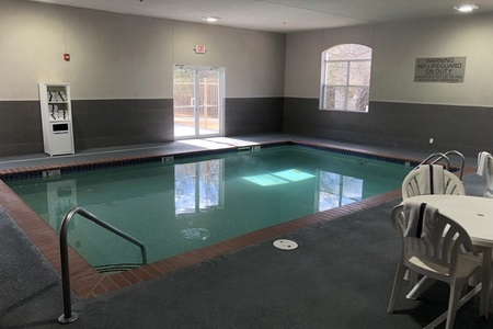 Indoor pool at hotel in Cartersville