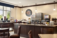 Lawrenceville hotel's breakfast area