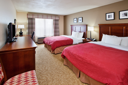 Hotel guest room with two queen beds