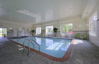 Hotel's indoor pool and hot tub