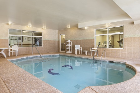 Indoor pool with seating in Smyrna