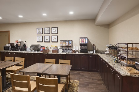 Dining area and breakfast spread in Smyrna