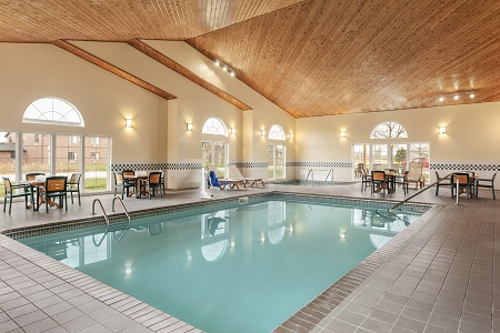 Large indoor pool at the Country Inn & Suites, Ames, IA