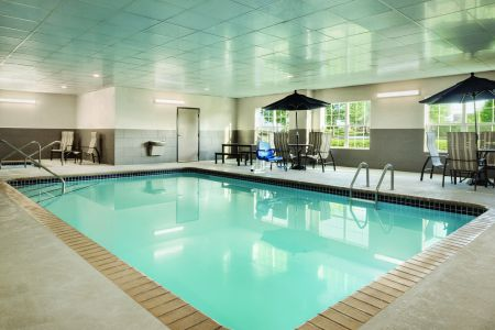 Indoor pool at hotel in Coralville
