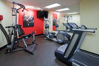 Fitness center at Cedar Rapids hotel