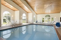 Indoor pool with natural lighting