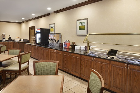Breakfast area at the Country Inn & Suites, Champaign, IL
