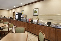 Hotel dining area with a free, hot breakfast