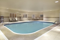 Heated indoor pool at our hotel in Champaign, IL
