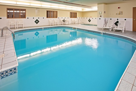 Hotel's indoor pool in Galesburg, Illinois