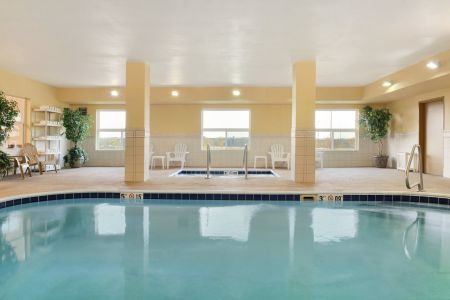 Indoor pool at Moline hotel