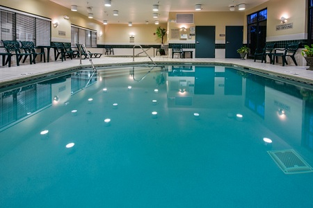 Refreshing indoor pool