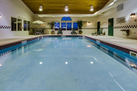 Indoor pool at hotel in Stockton