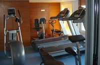 Treadmills and other exercise machines in the fitness centre