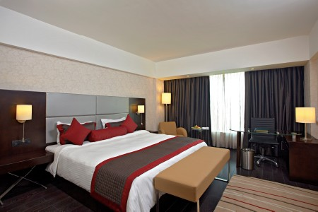 Spacious suite with contemporary furnishings and a king bed