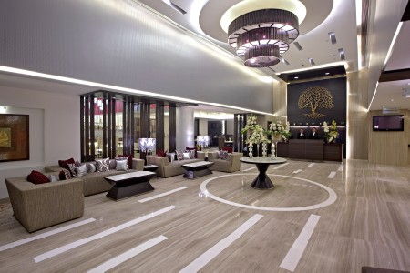 Elegant lobby at the Country Inn & Suites, Gurgaon, Sector 29