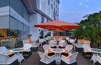 Hotel's restaurant with outdoor seating