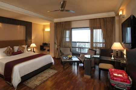 Hotel rooms at the Country Inn & Suites, Mussoorie