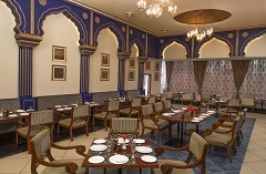 Hotel restaurant with Indian decor and cuisine