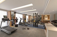 Fitness centre with free weights, a multi-gym and various cardio equipment
