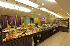 Expansive buffet spread at Mosaic