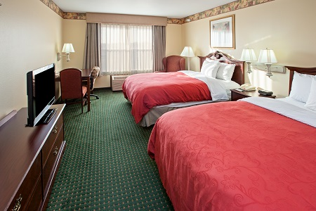 Double Guest Room at This Elkhart Hotel