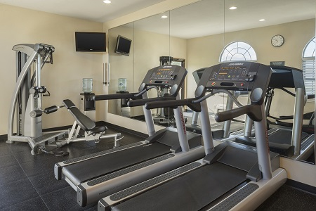 Fitness center with treadmills and an elliptical
