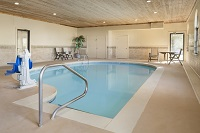 Indoor pool with a handicap-accessible lift