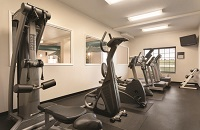 Hotel fitness center with treadmills, a multi-gym and a stair stepper