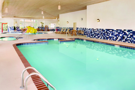 Indoor pool with designated children's area