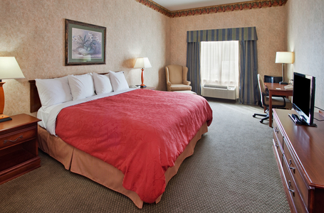 Hotel room in Somerset, Kentucky includes king bed