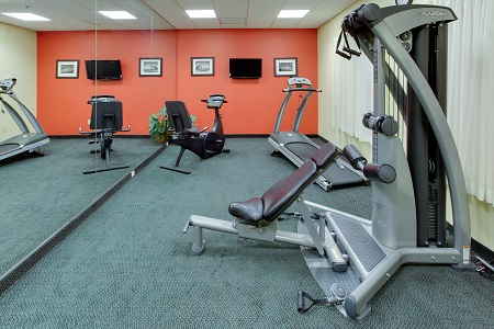 Exercise machines in the fitness center