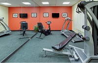 Exercise equipment in the fitness center