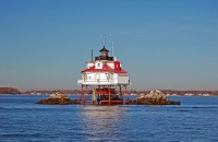 Thomas Point lighthouse in Chesapeake Bay