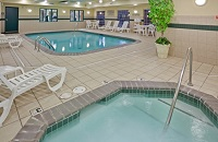 Big Rapids hotel with sparkling indoor pool and hot tub