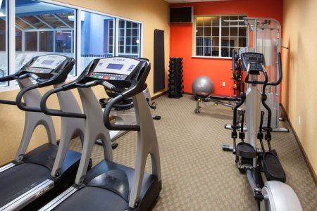 Fitness center with treadmills and elliptical