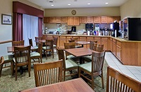 Iron Mountain hotel's breakfast area