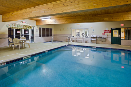 Hotel's indoor heated pool in Iron Mountain