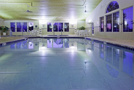 Albertville hotel's indoor pool