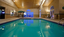 Indoor pool at Buffalo hotel